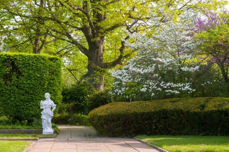 Garten im Frühjahr stockbild