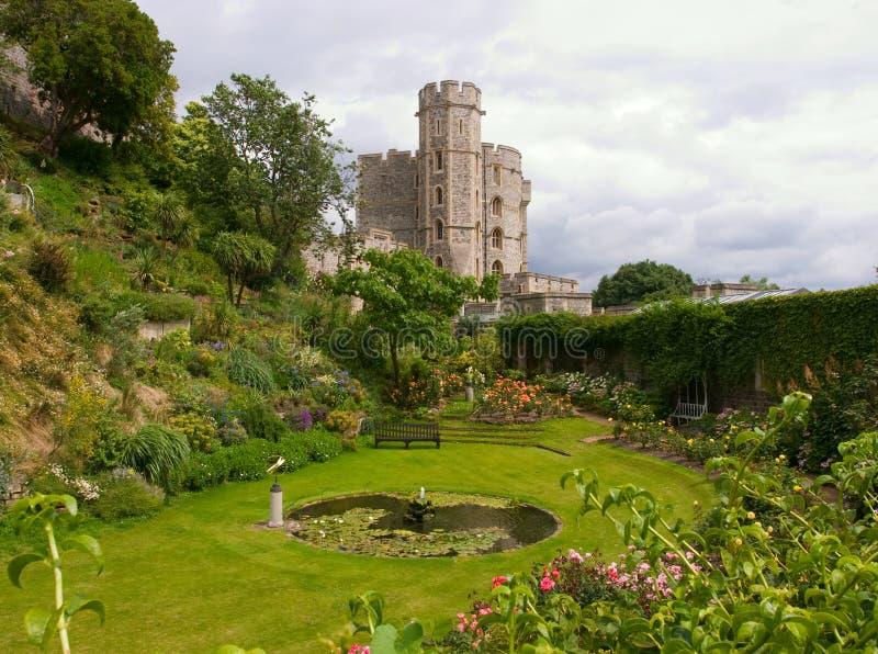 Garten im Windsor Schloss lizenzfreies stockfoto