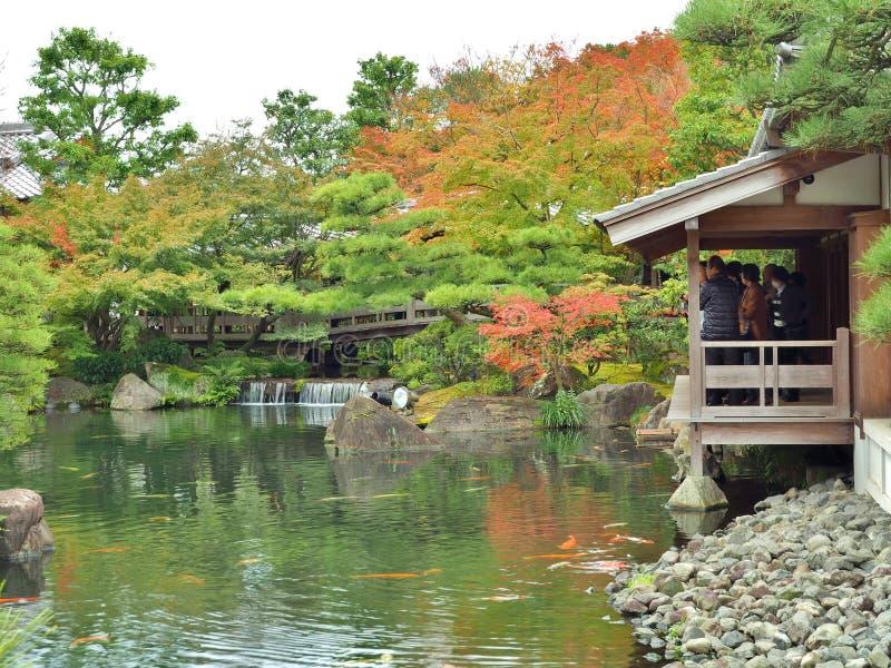 Garten Koko-en in Himeji, Hyogo-Präfektur, Japan stockbild