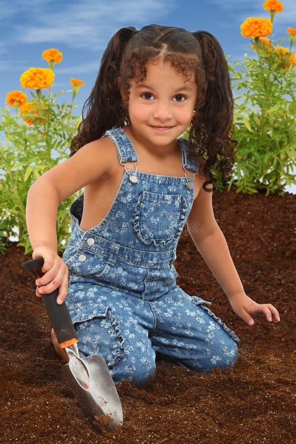 Garten-Mädchen lizenzfreie stockfotos