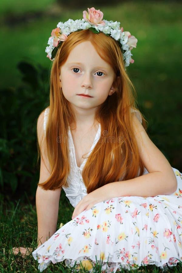 Garten-Mädchen 4 stockbild