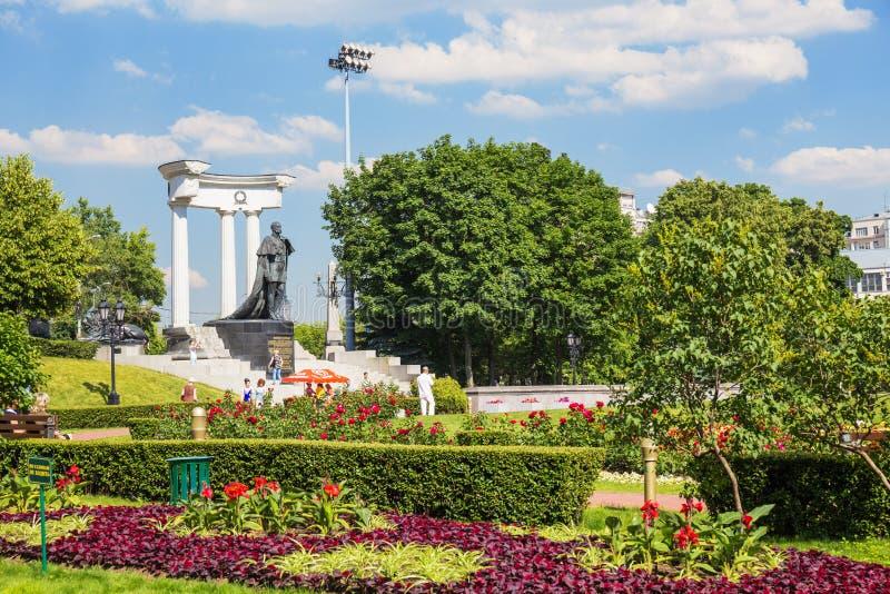 Garten nahe der Kathedrale von Christus der Retter, Moskau lizenzfreie stockfotos