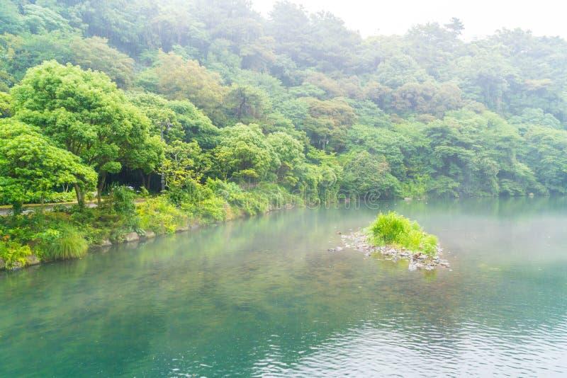 Garten-Park an Cheonjiyeon-Wasserfällen in Jeju-Insel stockbilder
