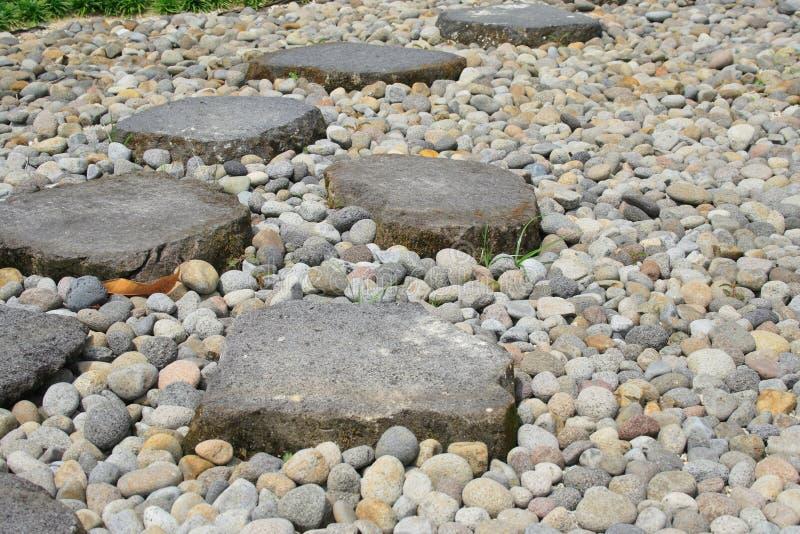 Garten-Steinpfad lizenzfreies stockbild