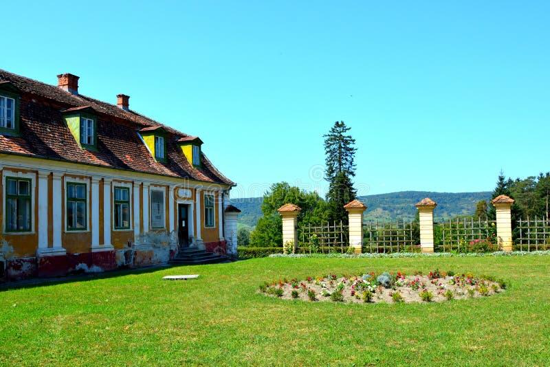 Garten von Baron von Brukenthal Palace in Avrig lizenzfreies stockbild