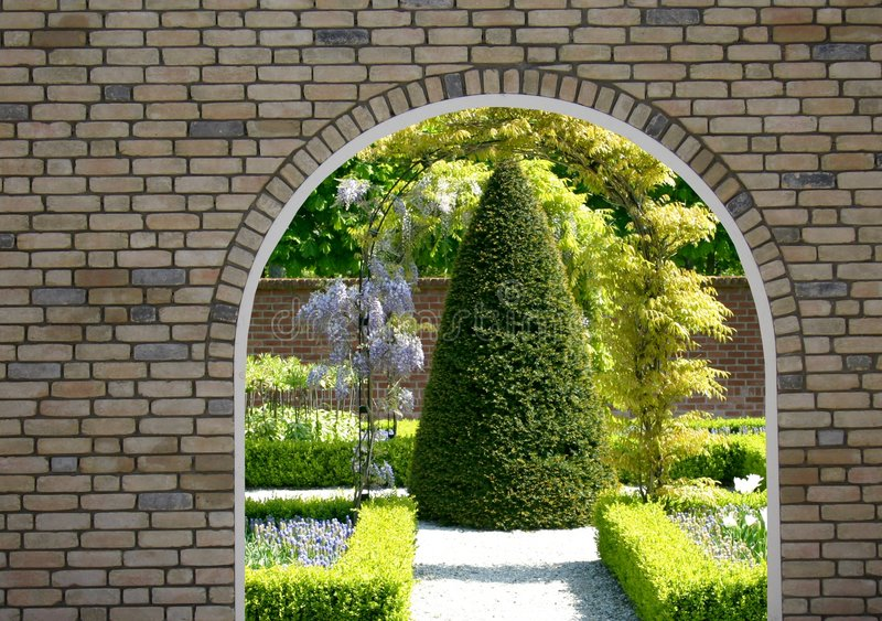 Gartenansicht stockfotografie
