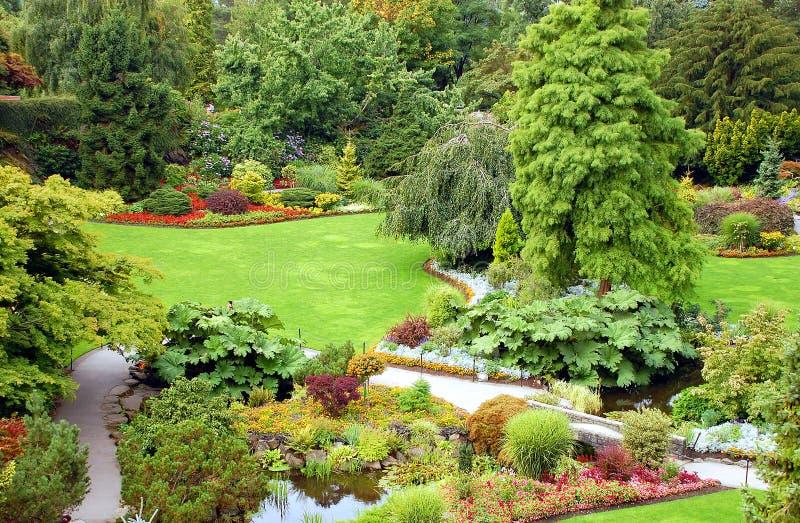 Gartenansicht lizenzfreies stockbild