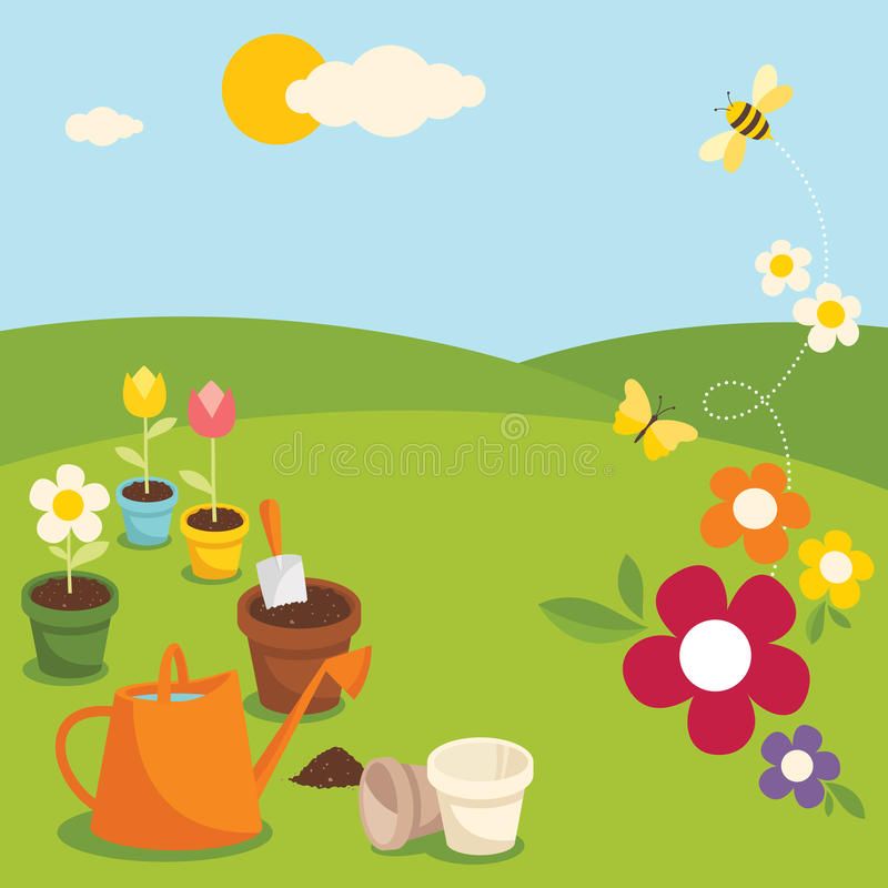 Gartenarbeit lizenzfreie abbildung