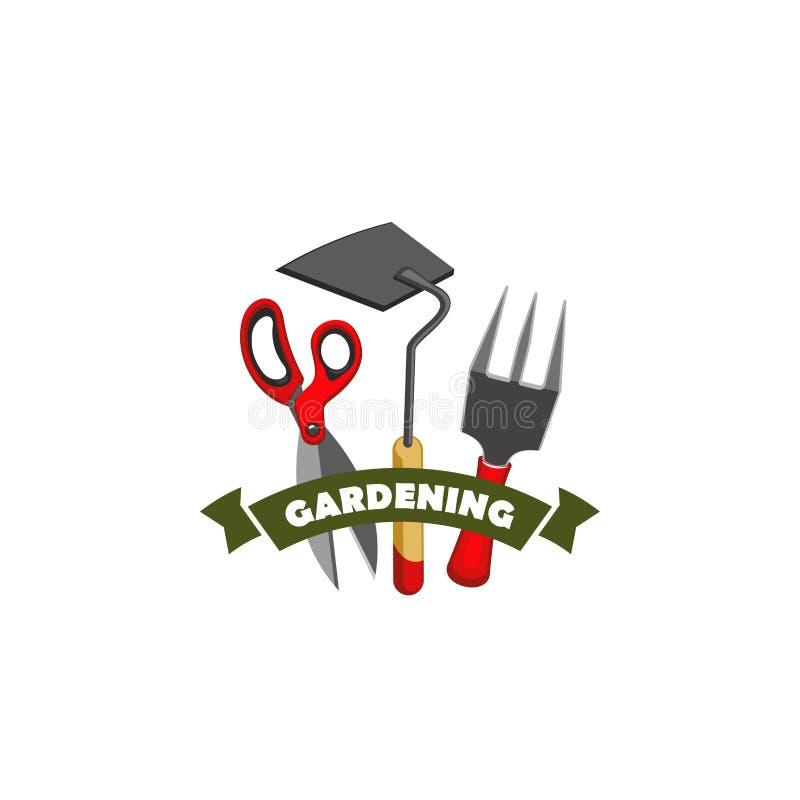Gartenarbeit, Arbeitswerkzeugshop-Vektorikone bewirtschaftend vektor abbildung