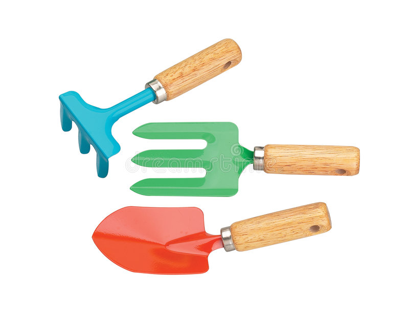 Download Gartenarbeithilfsmittel stockbild. Bild von metall, konzepte - 9089975