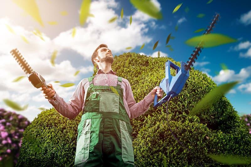 Gartenarbeitmeister stockbilder