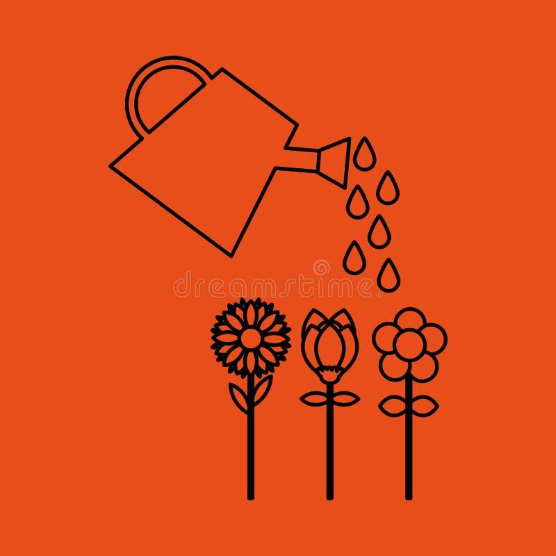 Gartenberieselungsanlagen-Bauernhofwerkzeug vektor abbildung