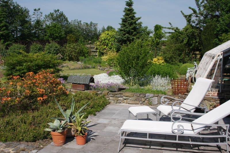 Gartenentspannung stockfotografie