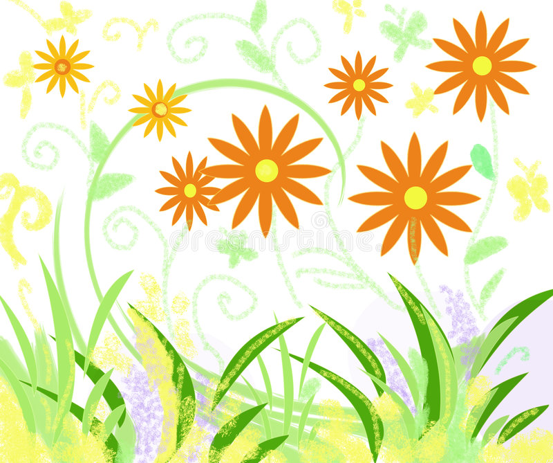 Gartenfarben vektor abbildung