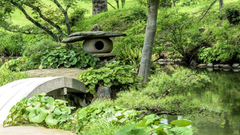 Gartenfunktionen in Japan Hiroshima stockfotos