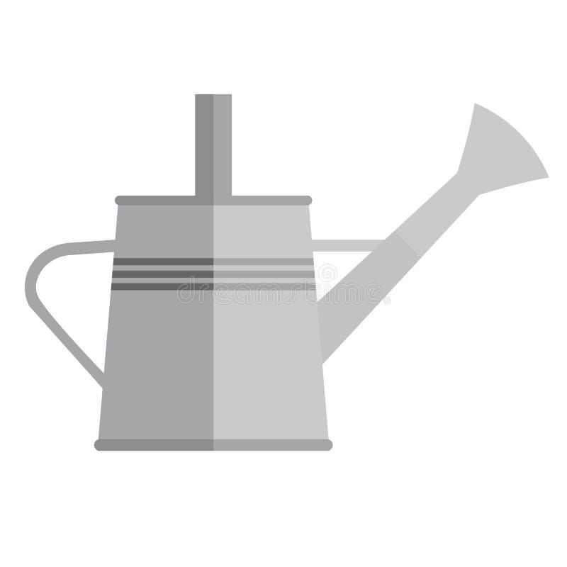 Gartengießkanne, Ikone, flache Art vektor abbildung