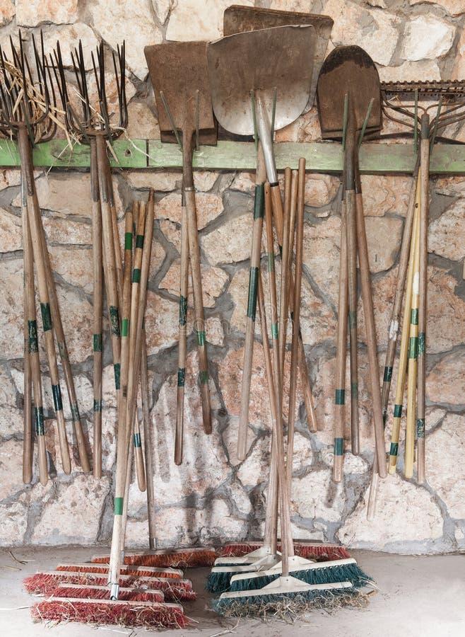 Gartenhandwerkzeuge stockbilder