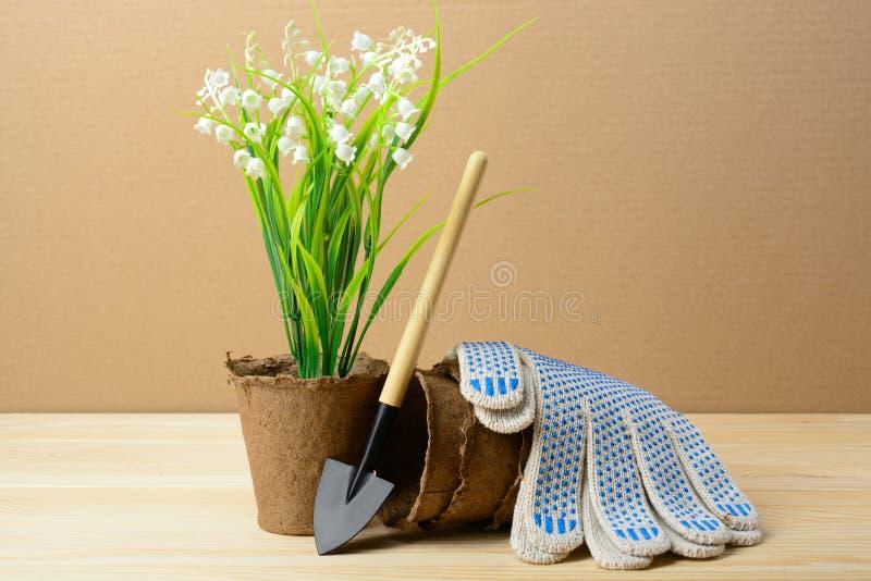 Gartenhilfsmittel für das Pflanzen stockfoto