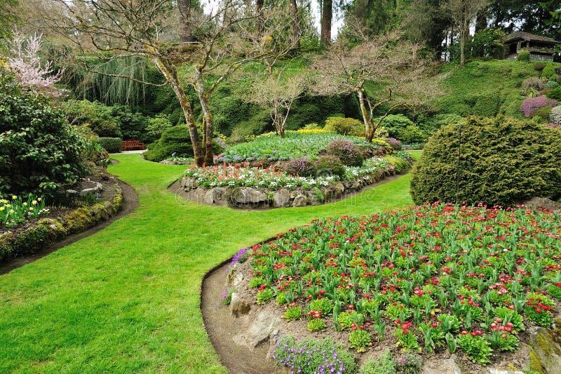 Gartenlandschaftsgestaltung lizenzfreies stockbild