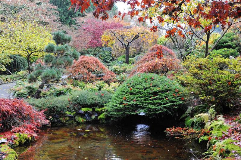 Gartenlandschaftsgestaltung lizenzfreie stockfotos
