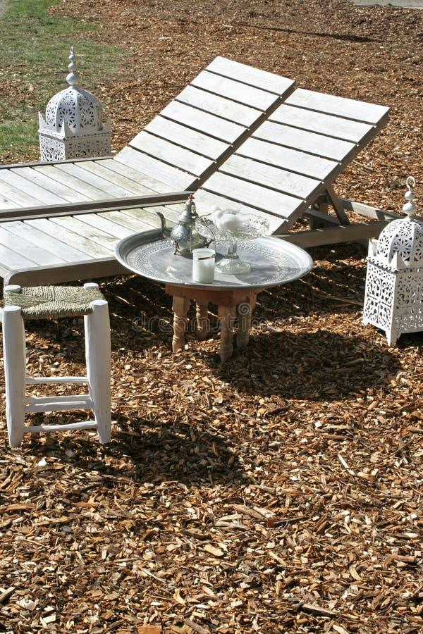 Gartenmöbel stockfotos