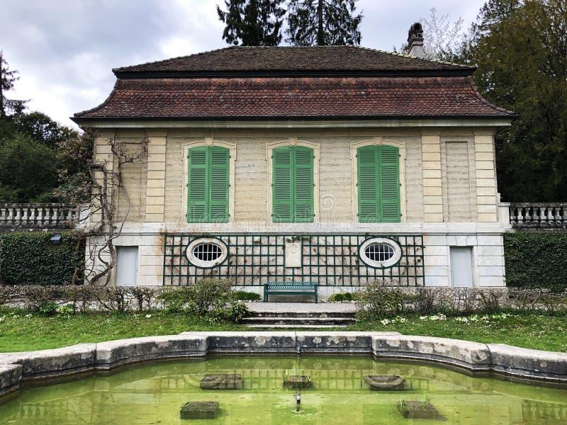 Gartensaal der Villa Boveri or Villa-Boveri Gartensaal, Baden stock image