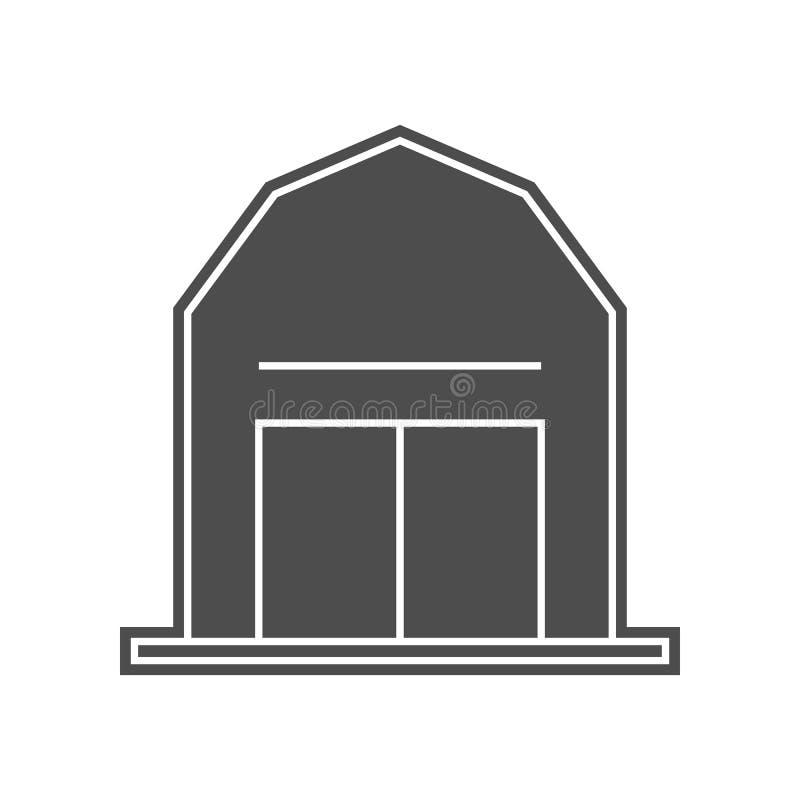Gartenzaunikone Element von minimalistic f?r bewegliches Konzept und Netz Appsikone Glyph, flache Ikone f?r Websiteentwurf und stock abbildung