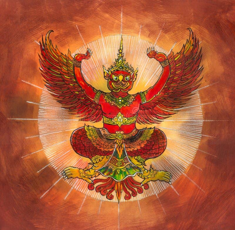 Garuda, ταϊλανδικός αετός μυθολογίας απεικόνιση αποθεμάτων