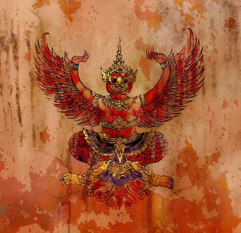 Garuda, ταϊλανδικός αετός μυθολογίας διανυσματική απεικόνιση