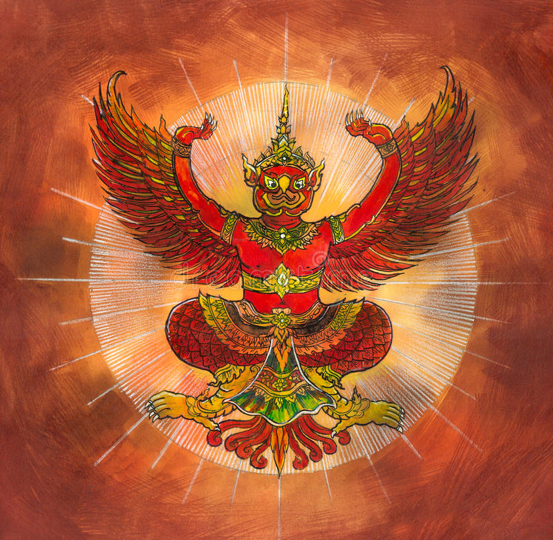 Garuda, тайский орел мифологии иллюстрация штока