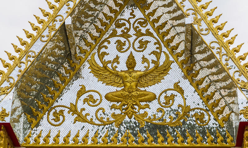 Garuda Gold In Temple Royalty Free Stock Photo