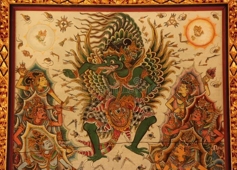 Garuda Hindu Painting imágenes de archivo libres de regalías