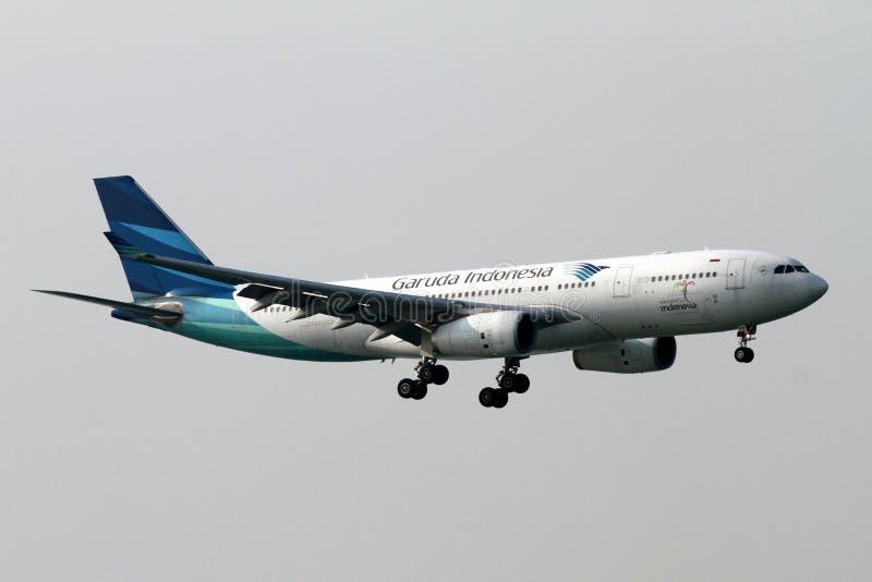 Garuda Indonesia Aeroplane stock afbeeldingen