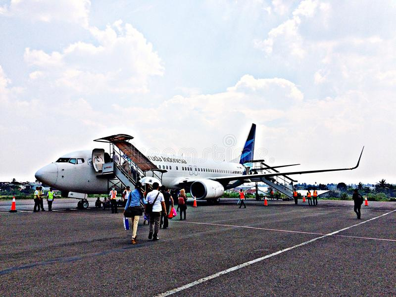 Garuda Indonesia royalty free stock photos