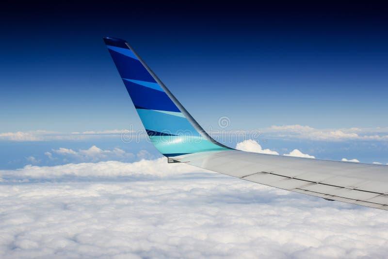 Garuda Indonesia en el cielo foto de archivo