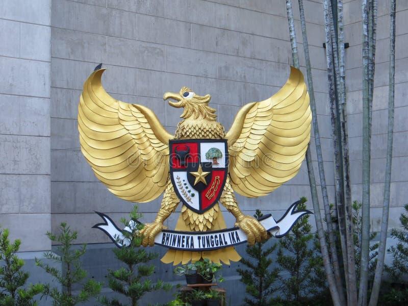 Garuda Pancasila en la catedral de Jakarta fotografía de archivo libre de regalías