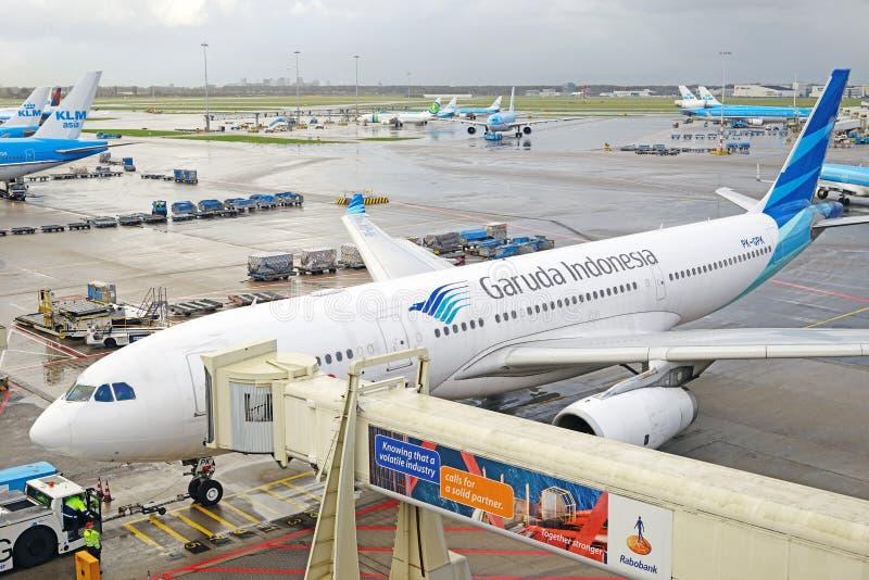 Garuda A330 pk-GPK royalty-vrije stock fotografie