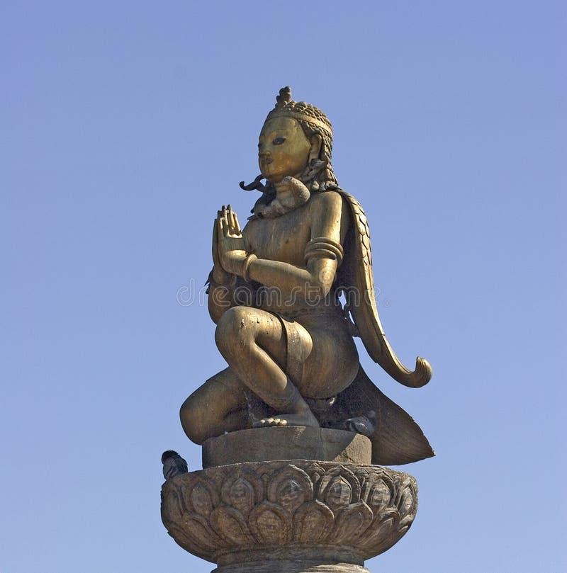 Garuda Statue in Patan stockfoto