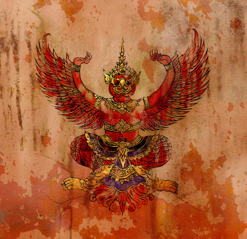 Garuda, Thaise mythologieadelaar vector illustratie