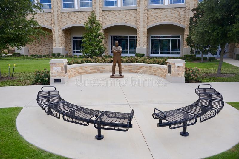 Gary Patterson Courtyard at TCU, Fort Worth, Texas. Gary Allen Patterson is an American football coach and former player. He is the head football coach at Texas royalty free stock image