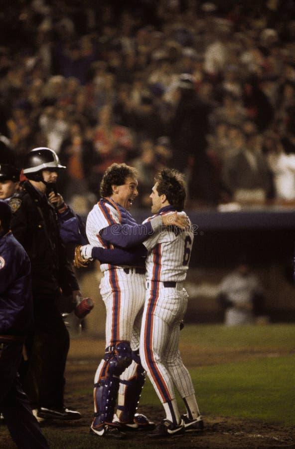 Gary Carter en Wally Backman New York Mets royalty-vrije stock afbeelding