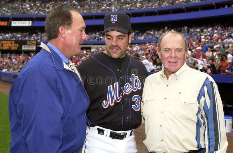 Gary Carter, Mike Piazza y Jerry Grote fotos de archivo
