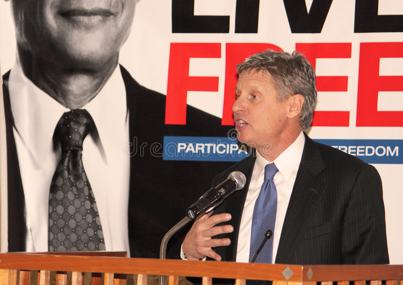 Gary Johnson - Presidential Candidate royalty free stock images