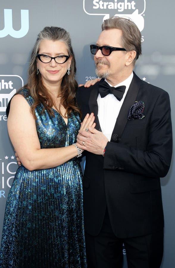 Gary Oldman Schmidt i Gisele zdjęcie stock