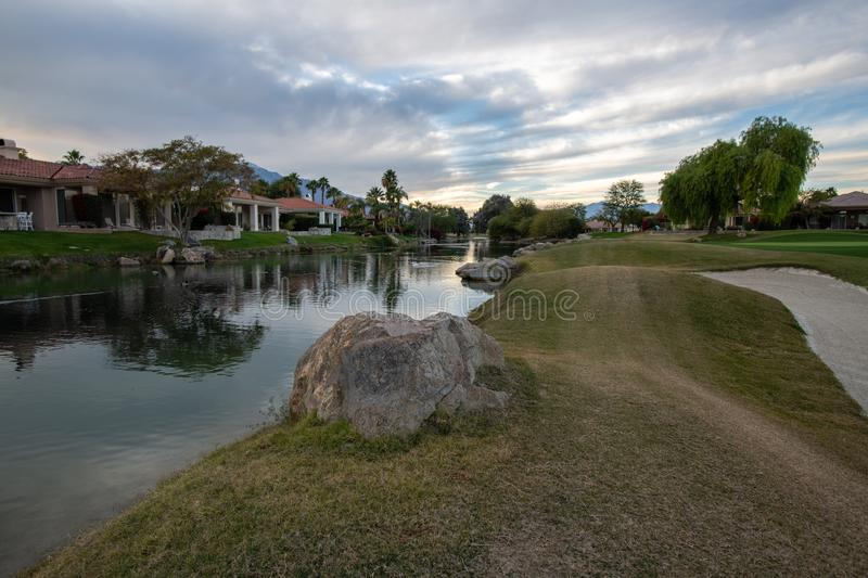 Gary Player Golf Course Rancho Mirage, CA arkivfoto