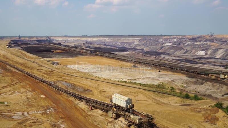 Garzweiler aberto - mineração do molde, Alemanha imagem de stock
