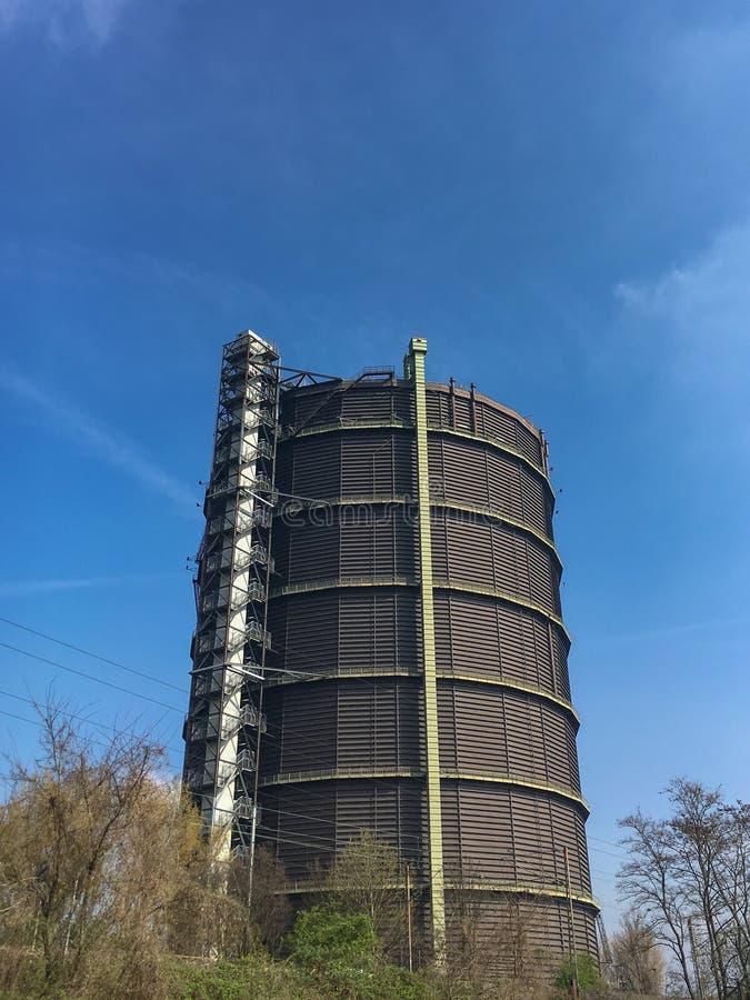 Gasómetro Oberhausen - un tenedor de gas anterior fotografía de archivo libre de regalías