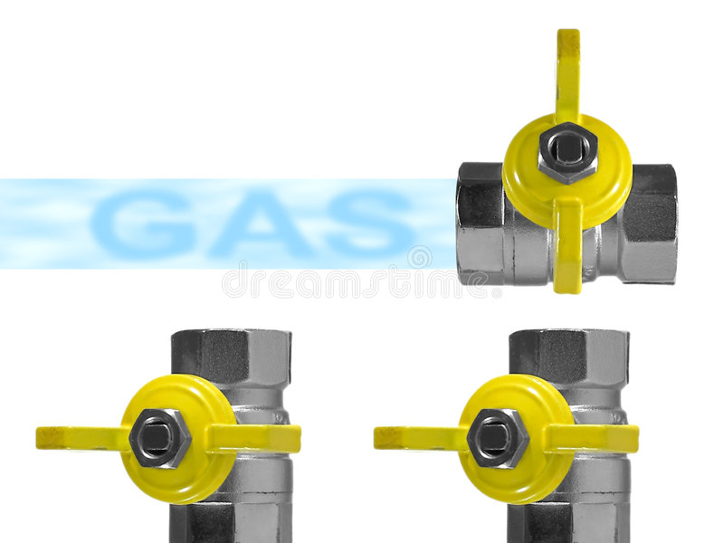 Gas royalty-vrije illustratie