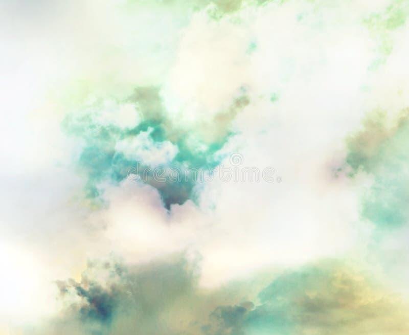 Gas abstracto, fondo colorido del nitrógeno, nebulosa en espacio imagenes de archivo