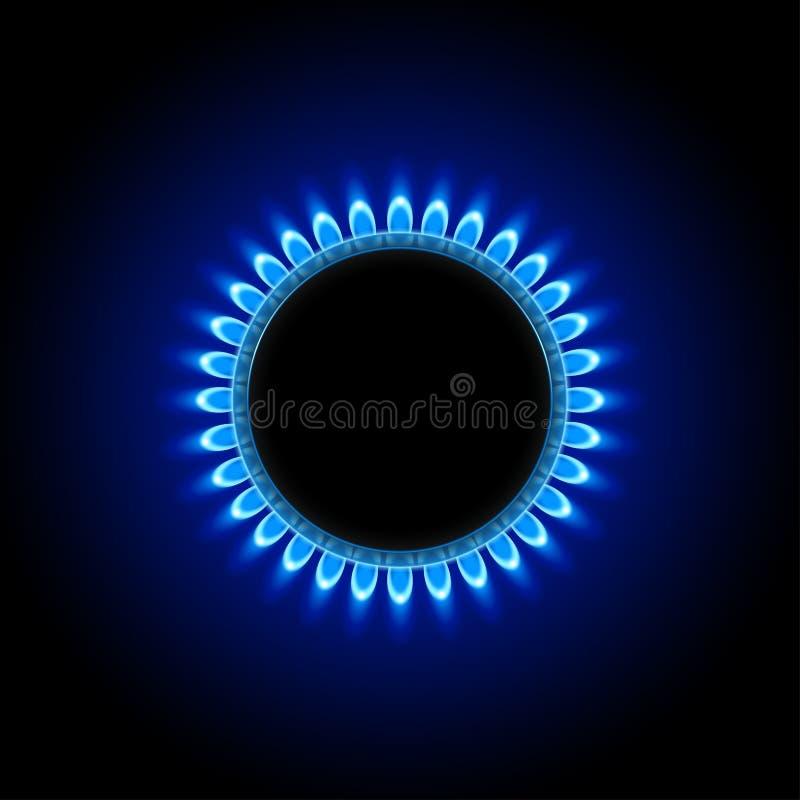 Gas auf Dunkelheit vektor abbildung
